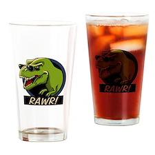 Rawr Dino! Drinking Glass