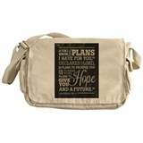 Cute Typography Messenger Bag