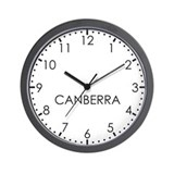 CANBERRA Modern Newsroom Wall Clock