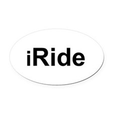 iRide.png Oval Car Magnet