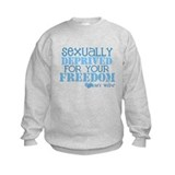 Funny Sexually deprived for your freedom army girlfriend Sweatshirt