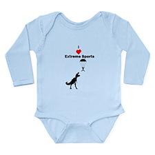 I Love Extreme Sports Long Sleeve Infant Bodysuit