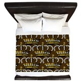 Cute Gold royal crown King Duvet