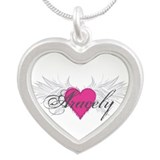 My Sweet Angel Aracely Silver Heart Necklace