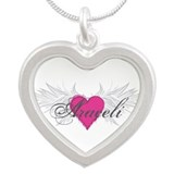 My Sweet Angel Araceli Silver Heart Necklace