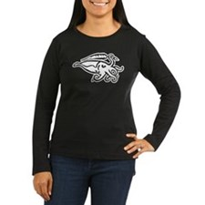 White Cuttlefish Women's Long Sleeve Dark T-Shirt