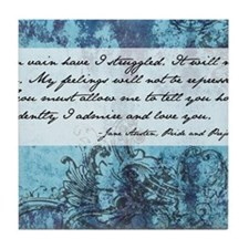 Pride and Prejudice Quote Tile Coaster