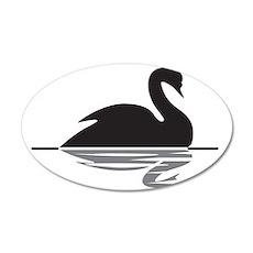 Black Swan 35x21 Oval Wall Decal