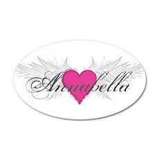 My Sweet Angel Annabella 20x12 Oval Wall Decal