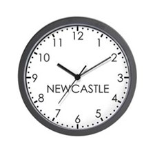 NEWCASTLE Modern Newsroom Wall Clock