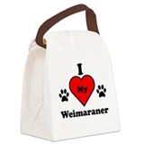 I Heart My Weimaraner Canvas Lunch Bag
