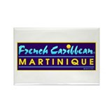 Martinique Rectangle Magnet