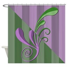 Lavendar & Green Flourish Shower Curtain