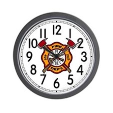 Fire Dept Wall Clock