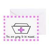 retired nurse card 2 Greeting Card