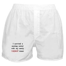 retired nurse t-shirts sanity intact Boxer Shorts
