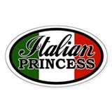Italian Princess Oval Bumper Stickers