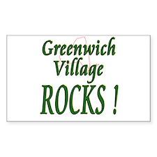 Greenwich Village Rocks ! Rectangle Decal