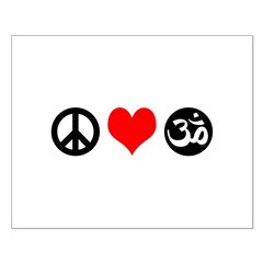 Peace Love Yoga Posters