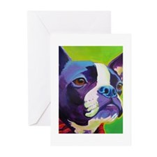 Cute Boston terrier artwork Greeting Cards (Pk of 10)