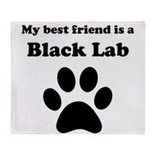 Black Lab Best Friend Throw Blanket