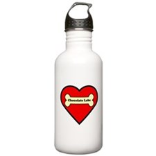 Chocolate Labs Heart Water Bottle