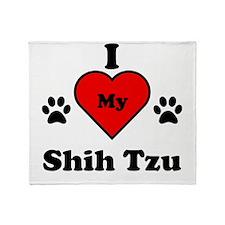 I Heart My Shih Tzu Throw Blanket