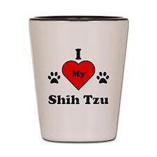 I Heart My Shih Tzu Shot Glass