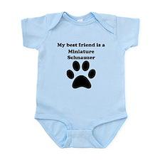 Miniature Schnauzer Best Friend Infant Bodysuit