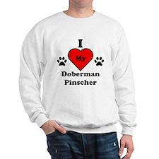 I Heart My Doberman Pinscher Sweatshirt