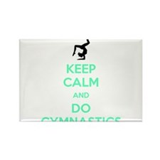 keep calm and do gymnastics Rectangle Magnet