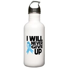 Never Give Up Prostate Cancer Sports Water Bottle
