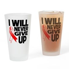 Never Give Up Oral Cancer Drinking Glass