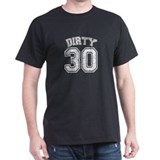 Dirty 30 White Speckled T-Shirt