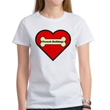 French Bulldogs Heart Tee