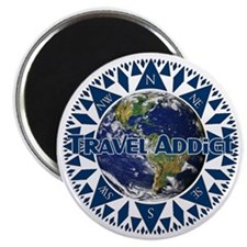 Travel Addict 'Compass' Magnet