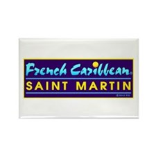 St. Martin Rectangle Magnet