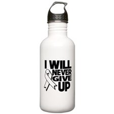 Never Give Up Lung Cancer Water Bottle