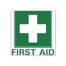 First Aid Rectangle Sticker