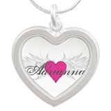 My Sweet Angel Adrianna Silver Heart Necklace