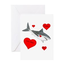 Personalized Shark Valentine Greeting Card