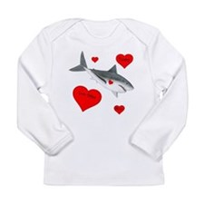 Personalized Shark Valentine Long Sleeve Infant T-