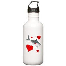 Personalized Shark Valentine Water Bottle