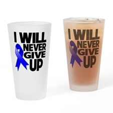Never Give Up Colon Cancer Drinking Glass
