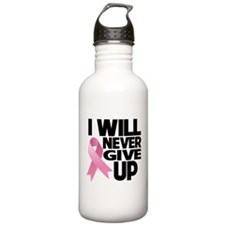 Never Give Up Breast Cancer Water Bottle