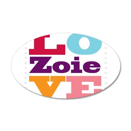 I Love Zoie Wall Decal