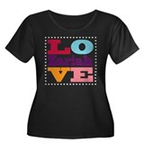 I Love Zariah Women's Plus Size Scoop Neck Dark T-