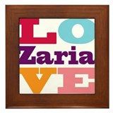 I Love Zaria Framed Tile