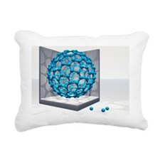 Fullerene molecule - Rectangular Canvas Pillow