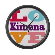 I Love Ximena Large Wall Clock